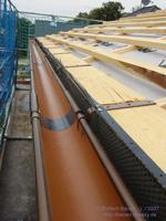 Reparaturen am Dachstuhl